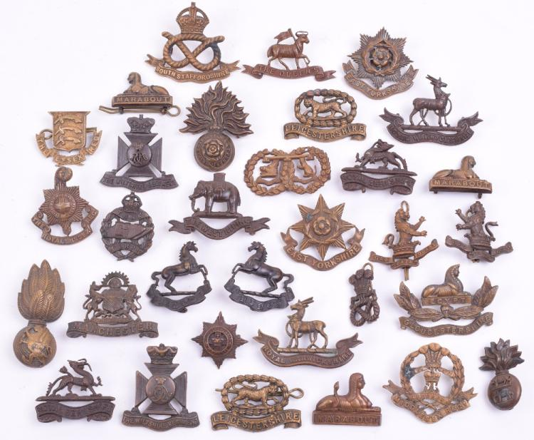 Selection of Officers Service Dress (OSD) Bronze Collar Badges