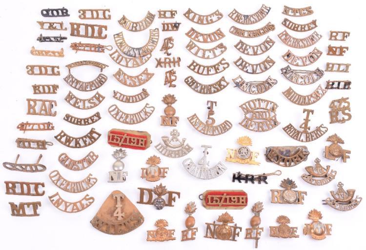 Quantity of Metal Shoulder Titles