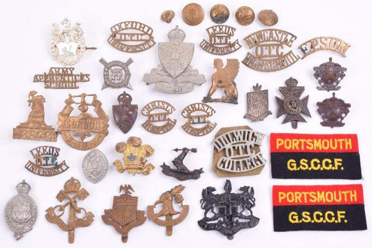 Selection of OTC Cap Badges and Shoulder Titles etc