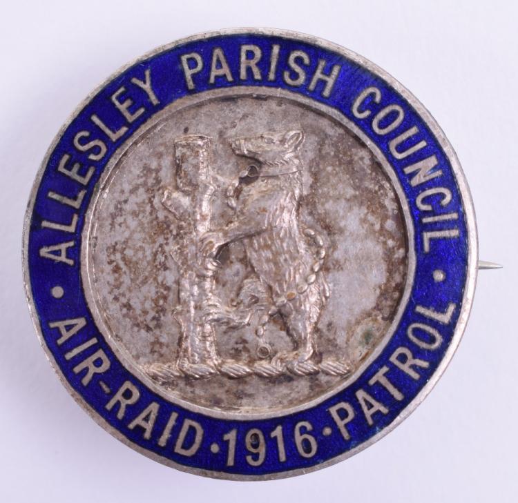 1916 Allesley Parish Council Air Raid Patrol Badge