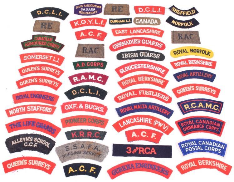 Selection of Cloth Shoulder Titles