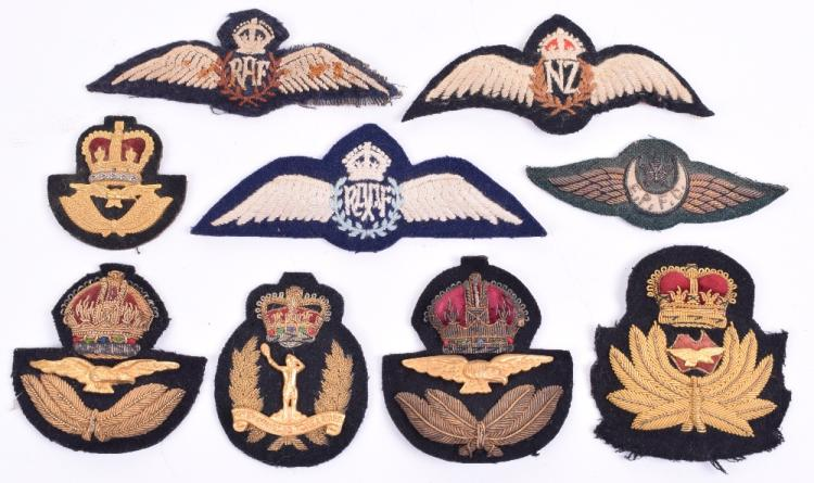 Royal Air Force Pilots Wings & Cap Badges