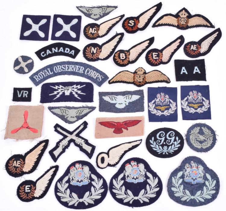 Selection of Royal Air Force Cloth Insignia