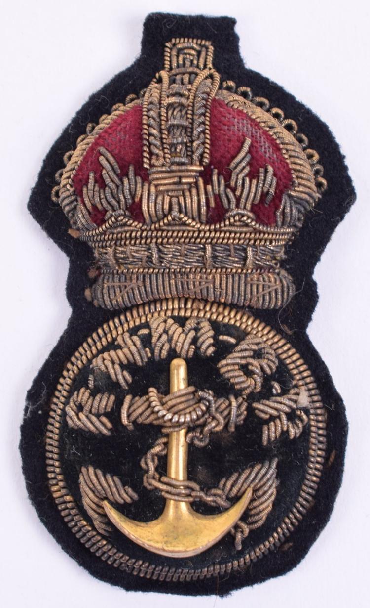 Rare Great War Royal Navy Motor Boat Reserve Petty Officers Cap Badge