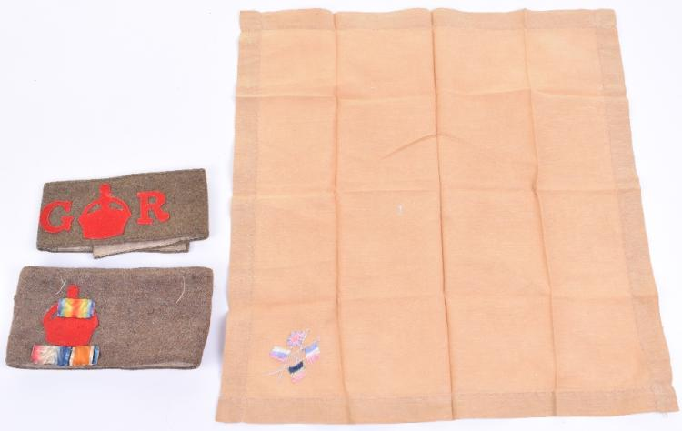 Two Great War Lord Derby Scheme Armbands