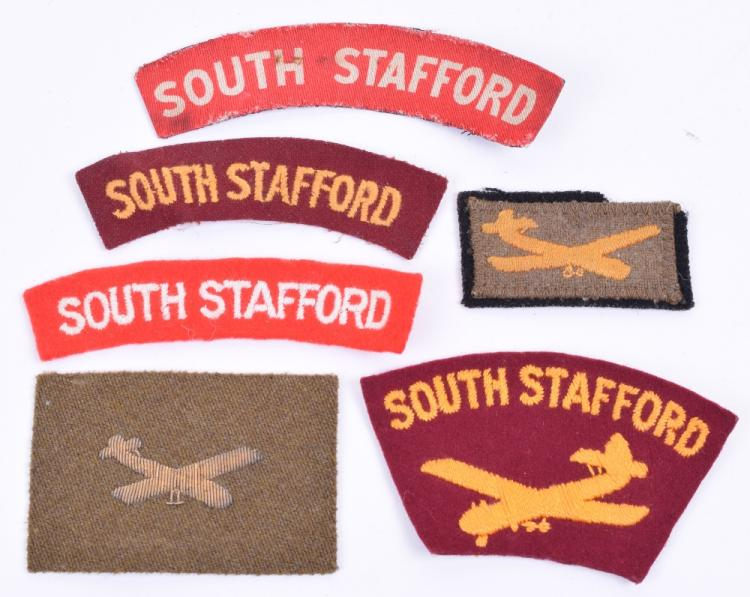 Selection of South Staffordshire Regiment Cloth Insignia