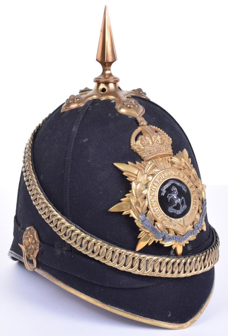 Post 1902 The Royal West Kent Regiment Officers Home Service Helmet