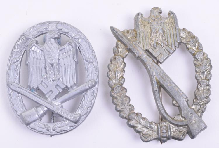 WW2 Infantry Assault & General Assault Combat Badges