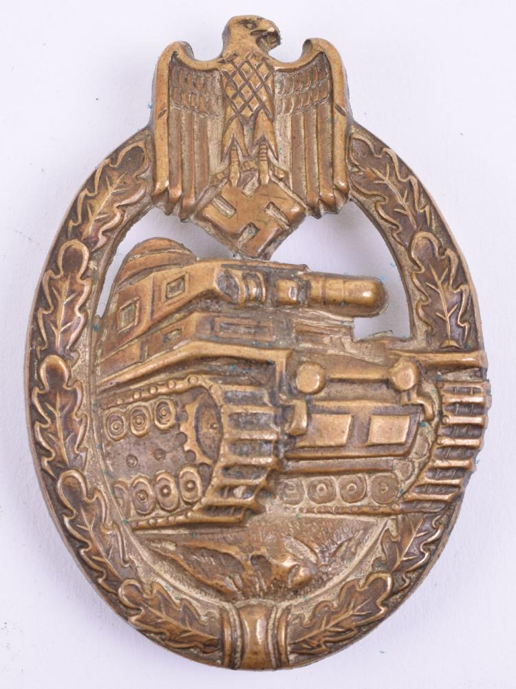 WW2 German Panzer Assault Combat Badge Bronze Grade