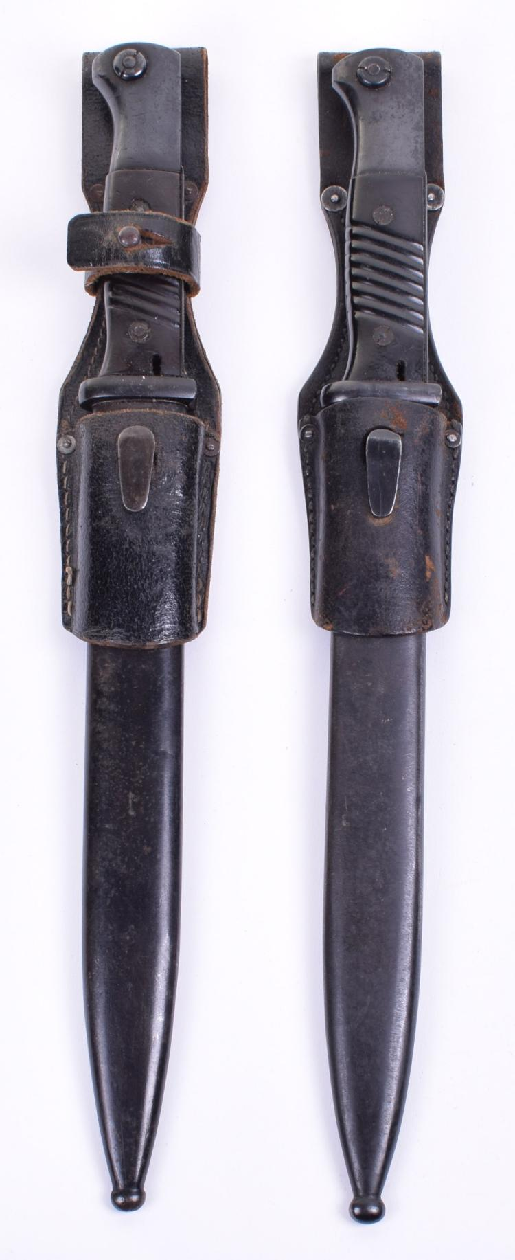 Two German K98 Mauser Bayonets