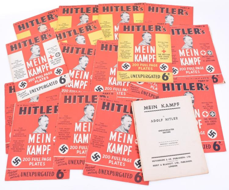 Hutchinson & Co Ltd Weekly Editions of Adolf Hitlers Mein Kampf