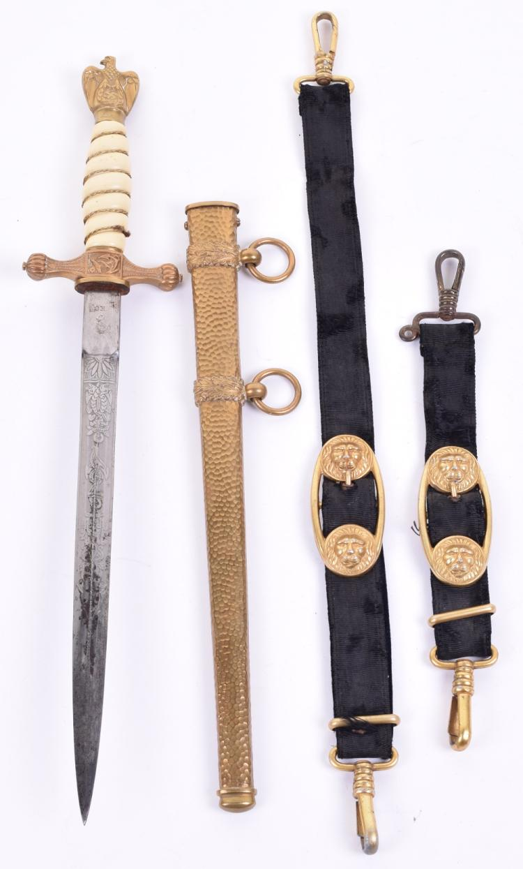 Kriegsmarine Officers Dress Dagger with Hanging Straps