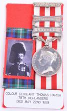 Two Clasp Indian Mutiny Medal 1857-59 78th Highlanders