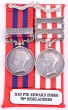 Victorian Campaign Medal Pair 78th Highlanders
