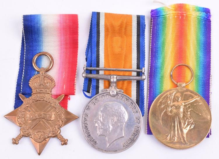 1914-15 Star Medal Trio Yorkshire Regiment