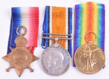 1914-15 Star Medal Trio Yorkshire Regiment