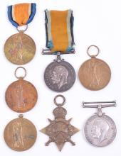 Selection of Great War Medals