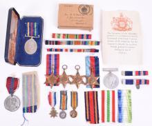 Boxed WW2 Royal Navy Medal Grouping