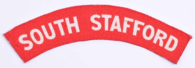 WW2 Printed South Staffordshire Regiment Shoulder Title