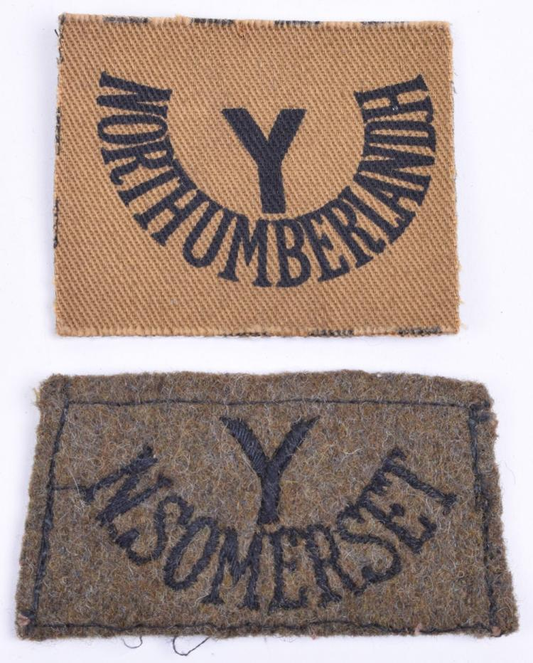 Two Yeomanry Slip On Shoulder Titles