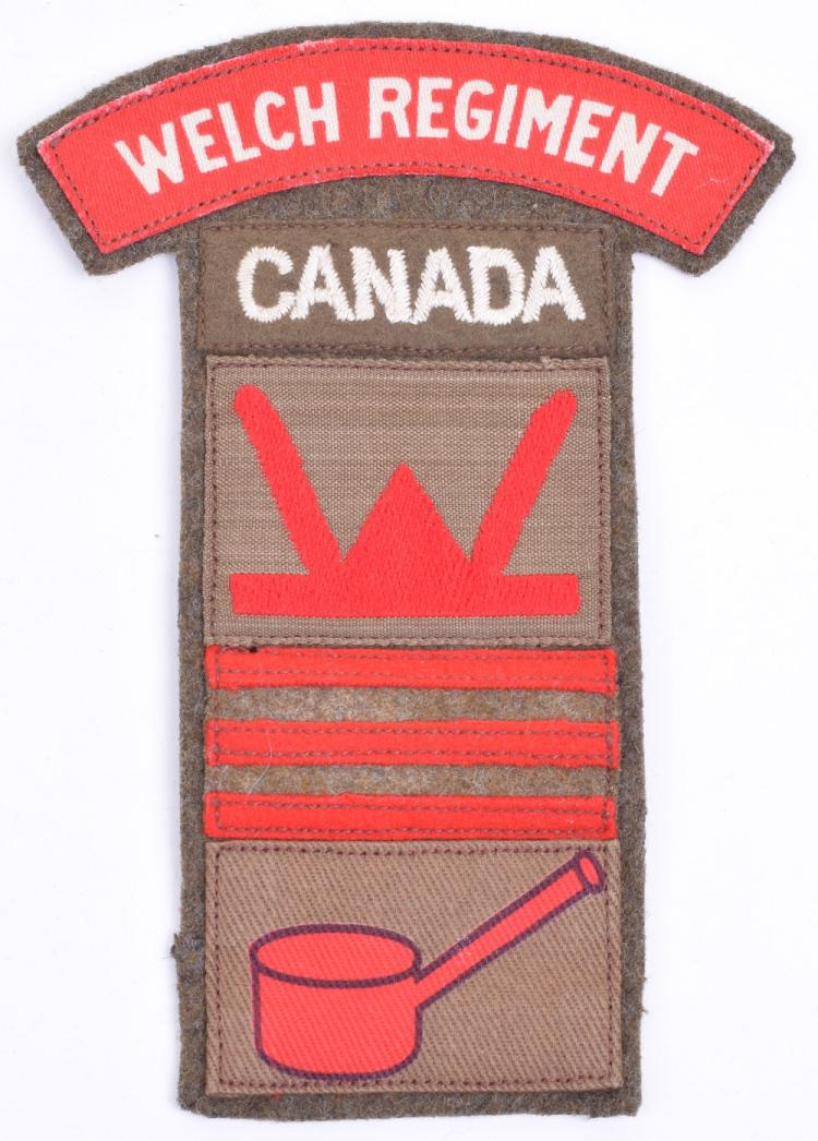 Rare 4th Battalion Welsh Regiment 53rd Welsh Division 160 Infantry Brigade Canloan Officer Battle Dress Combination