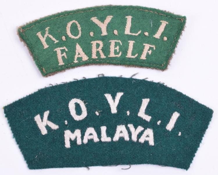Two KOYLI Far East Shoulder Title