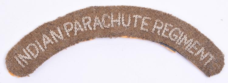 Rare Indian Parachute Regiment Cloth Shoulder Title