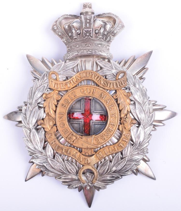 Rare Victorian Northamptonshire & Rutland Militia Officers Helmet Plate