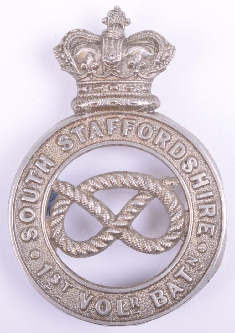 1st Volunteer Battalion South Staffordshire Regiment Other Ranks Glengarry Badge