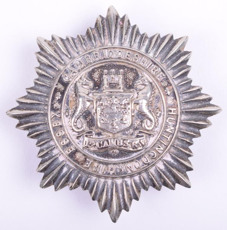 1st Cambridgeshire Rifle Volunteers (Essex, Cambridgeshire & Huntingdonshire) Cap Badge
