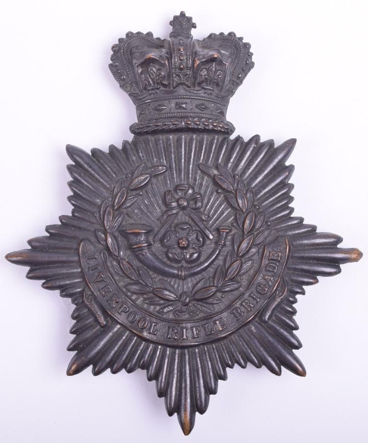 Victorian Lancashire (Liverpool Rifle Brigade) Rifle Volunteers Other Ranks Helmet Plate