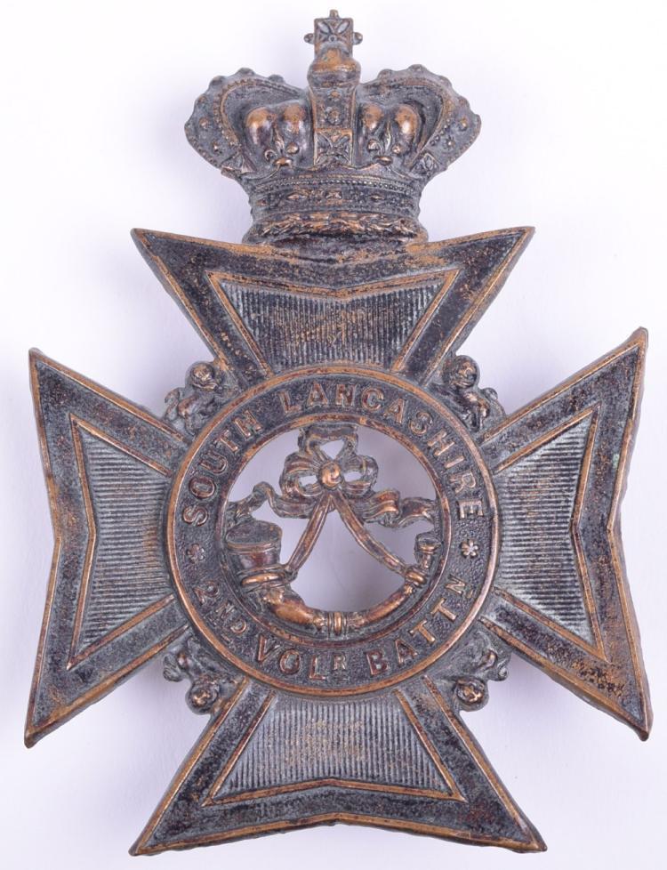 Victorian 2nd Volunteer Battalion South Lancashire Rifle Volunteers Other Ranks Helmet Plate