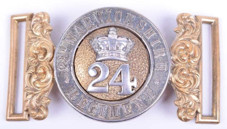 24th (2nd Warwickshire Regiment) Foot Officers Waist Belt Clasp