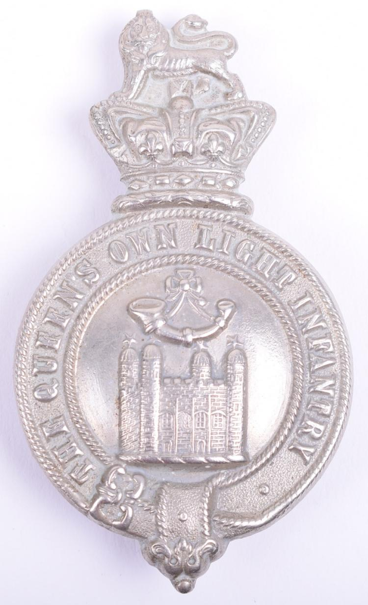 Victorian Queens Own Light Infantry (Tower Hamlets) Other Ranks Glengarry Badge