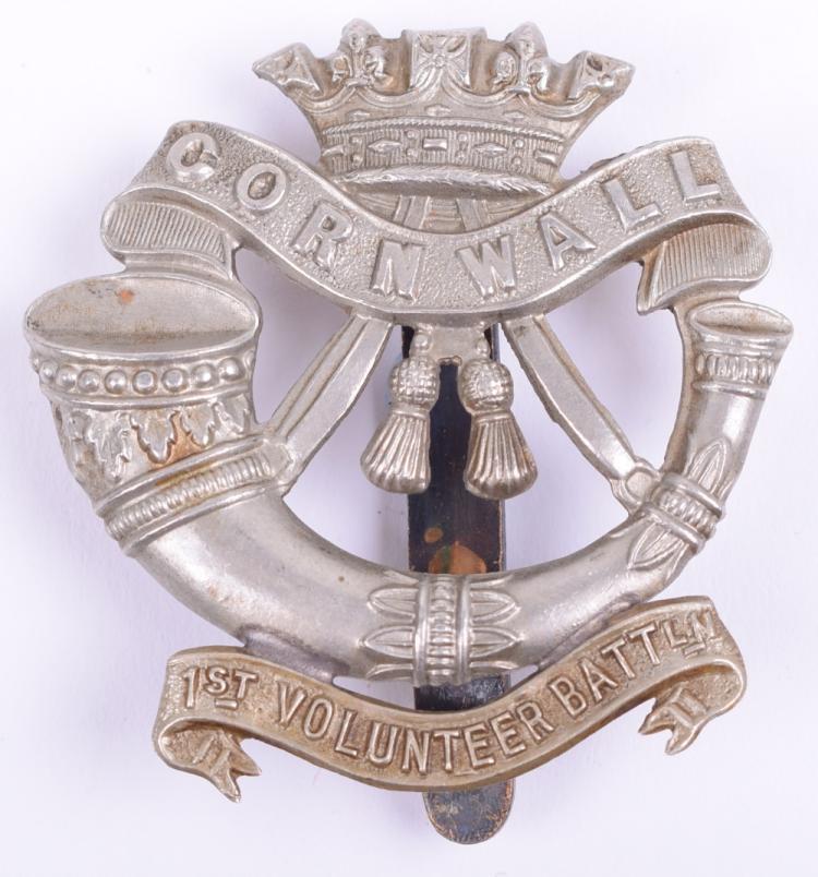 1st Volunteer Battalion Duke of Cornwall's Light Infantry Other Ranks Cap Badge