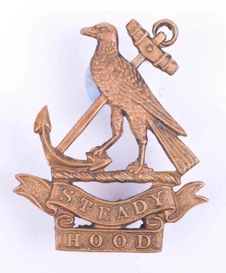 WW1 Royal Naval Division Hood Battalion Cap Badge