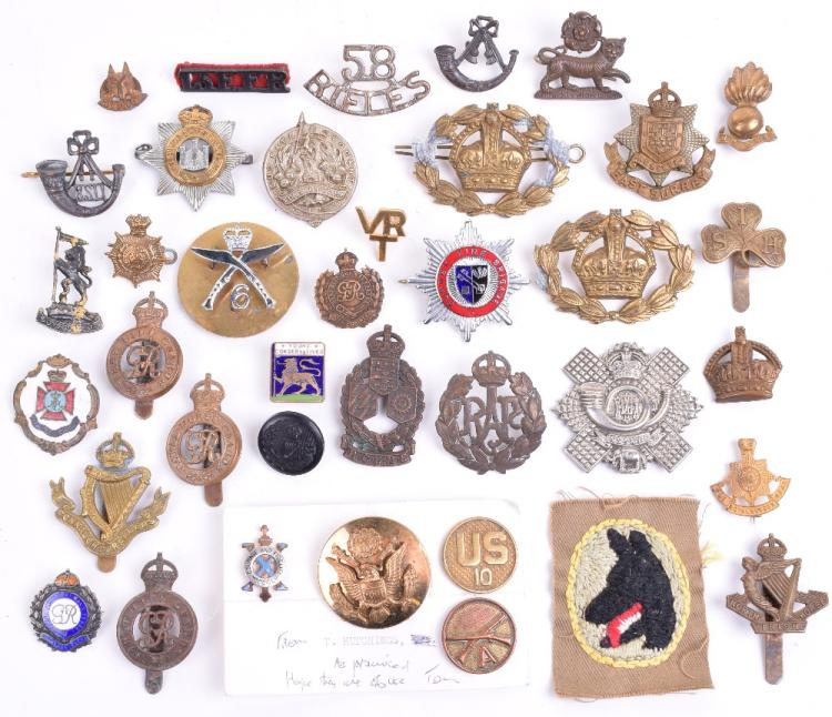 Selection of Various Cap Badges, Trade Badges & Titles