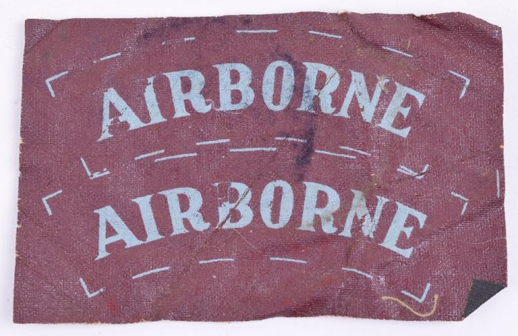 Rare Airborne Shoulder Titles on Waterproof Cloth