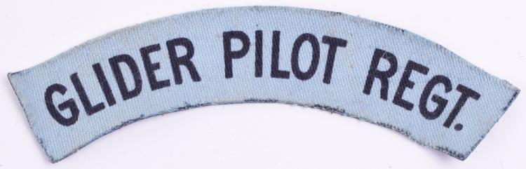 WW2 Printed Glider Pilot Regiment Shoulder Title