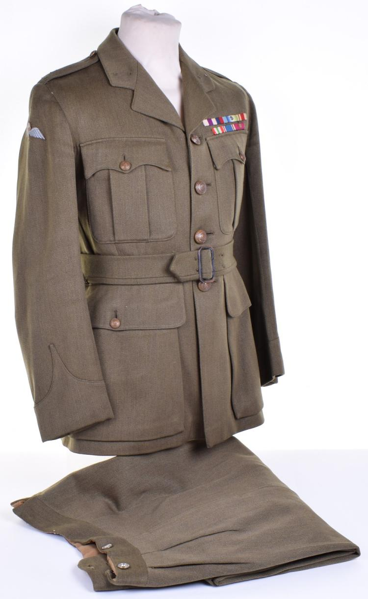 WW2 Service Dress Tunic Attributed to Captain P H B Wall 48 (Royal Marine) Commando, Awarded the Military Cross for Gallantry in 1945
