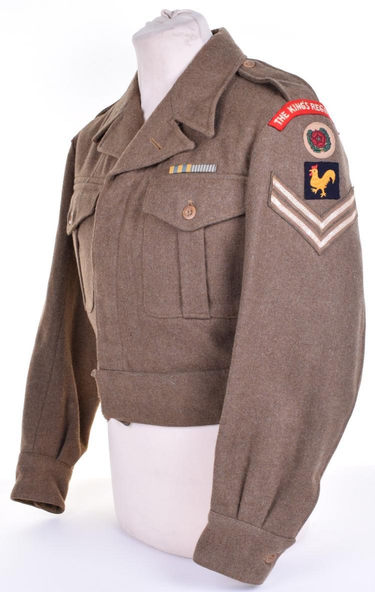 1947 Pattern The Kings Regiment 40th Division Korean War Veterans Battle Dress Blouse