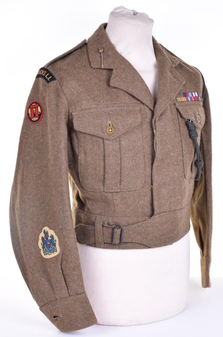 1949 Pattern Oxford & Buckinghamshire Light Infantry Warrant Officers Battle Dress Blouse