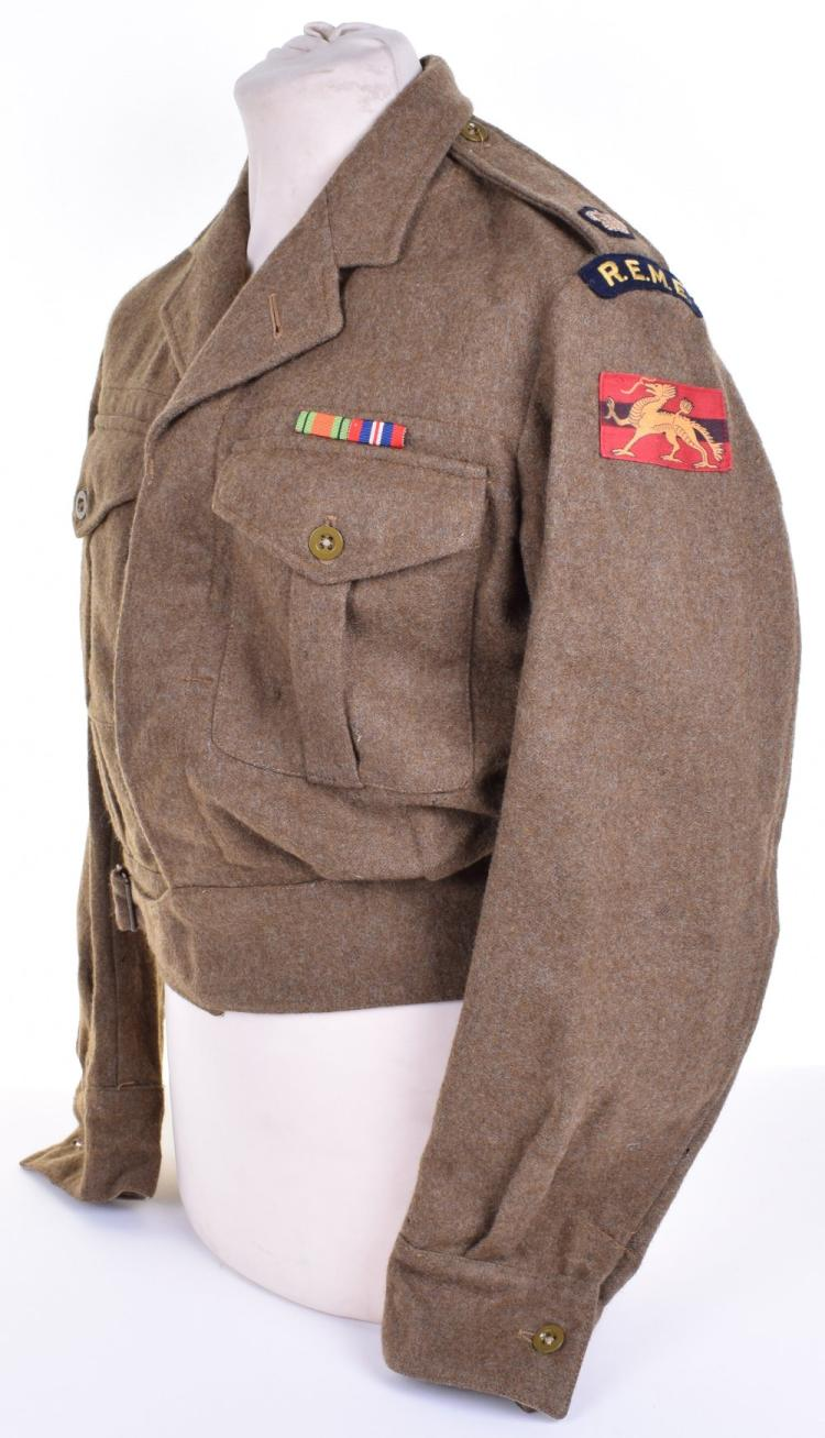 1949 Pattern HQ Land Forces Hong Kong Royal Electrical & Mechanical Engineers Battle Dress Blouse