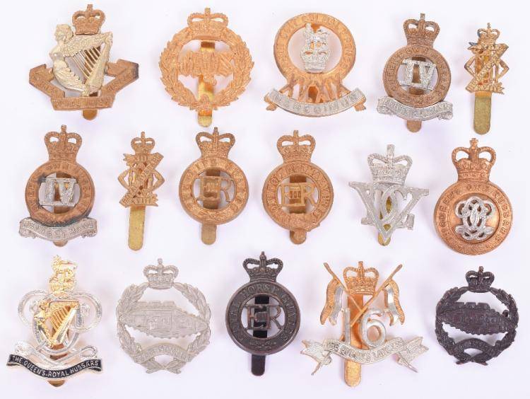 Sixteen British Cavalry Regiments Cap Badges