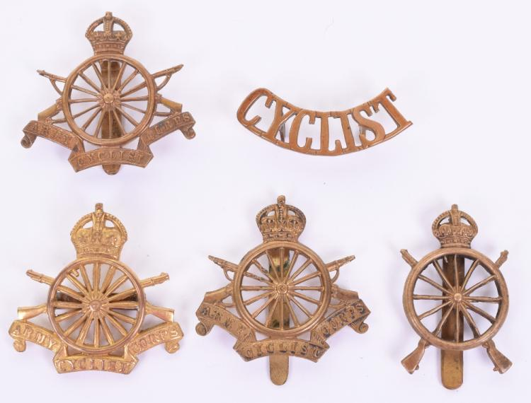 Selection of Army Cyclist Corps Badges