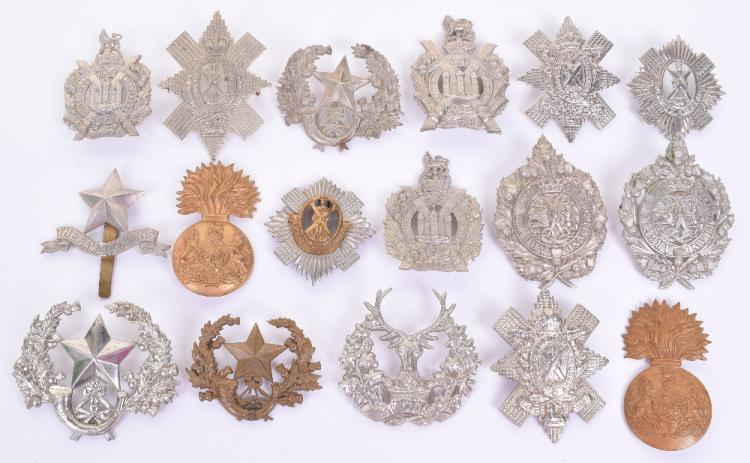 Selection of Scottish Regiments Cap and Glengarry Badges