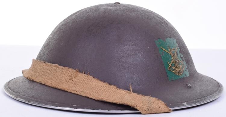 WW2 Infantry Training Battalions Steel Combat Helmet with Original Decal Insignia