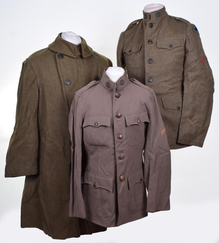 Great War American 88th Infantry Division Tunic & Greatcoat