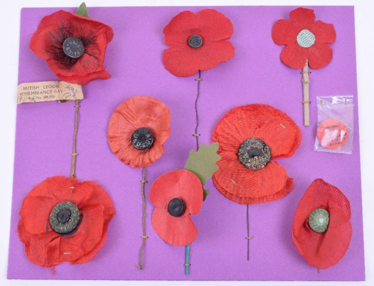 Selection of Remembrance Day Poppies