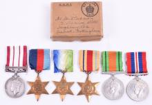 Pre War Palestine and WW2 Campaign Medal Group to the Royal Navy